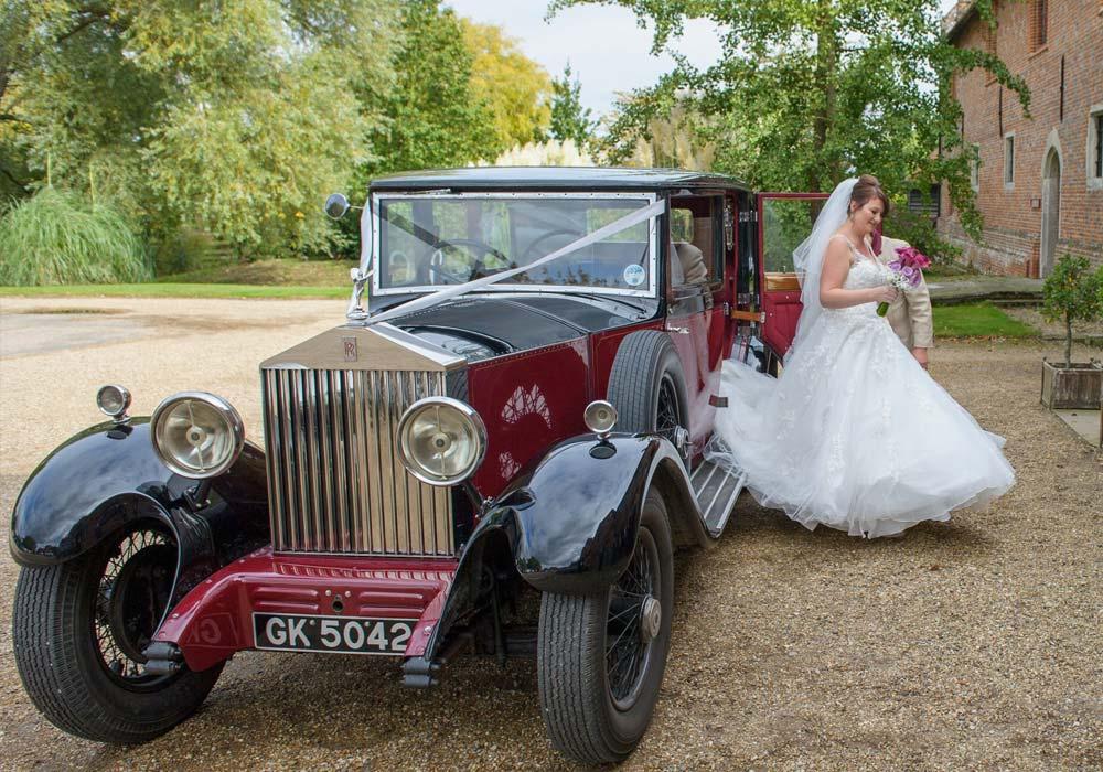 Chaffeur driven Rolls-Royce