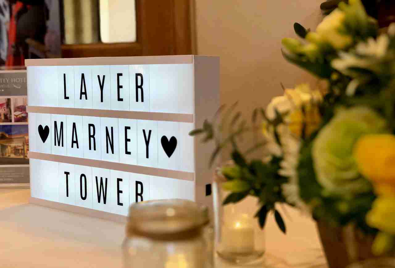 Layer Marney Tower, Wedding Fayre registration desk
