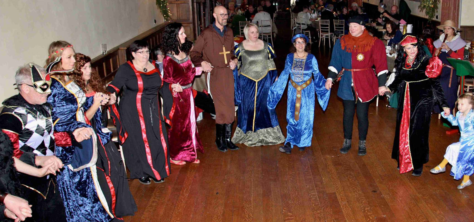 Wedding anniversary celebration party with a Medieval twist