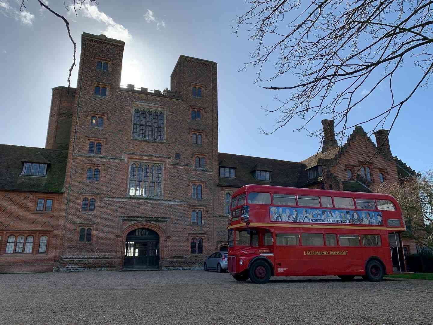 Routemaster bus, wedding transport for guests