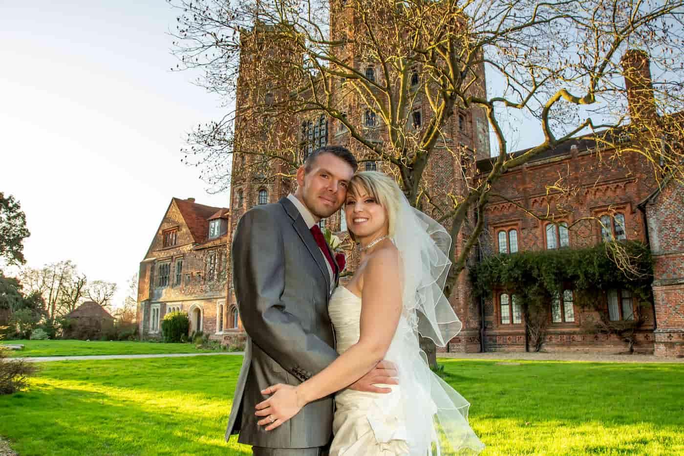 Bride and Groom, Garden, February Wedding