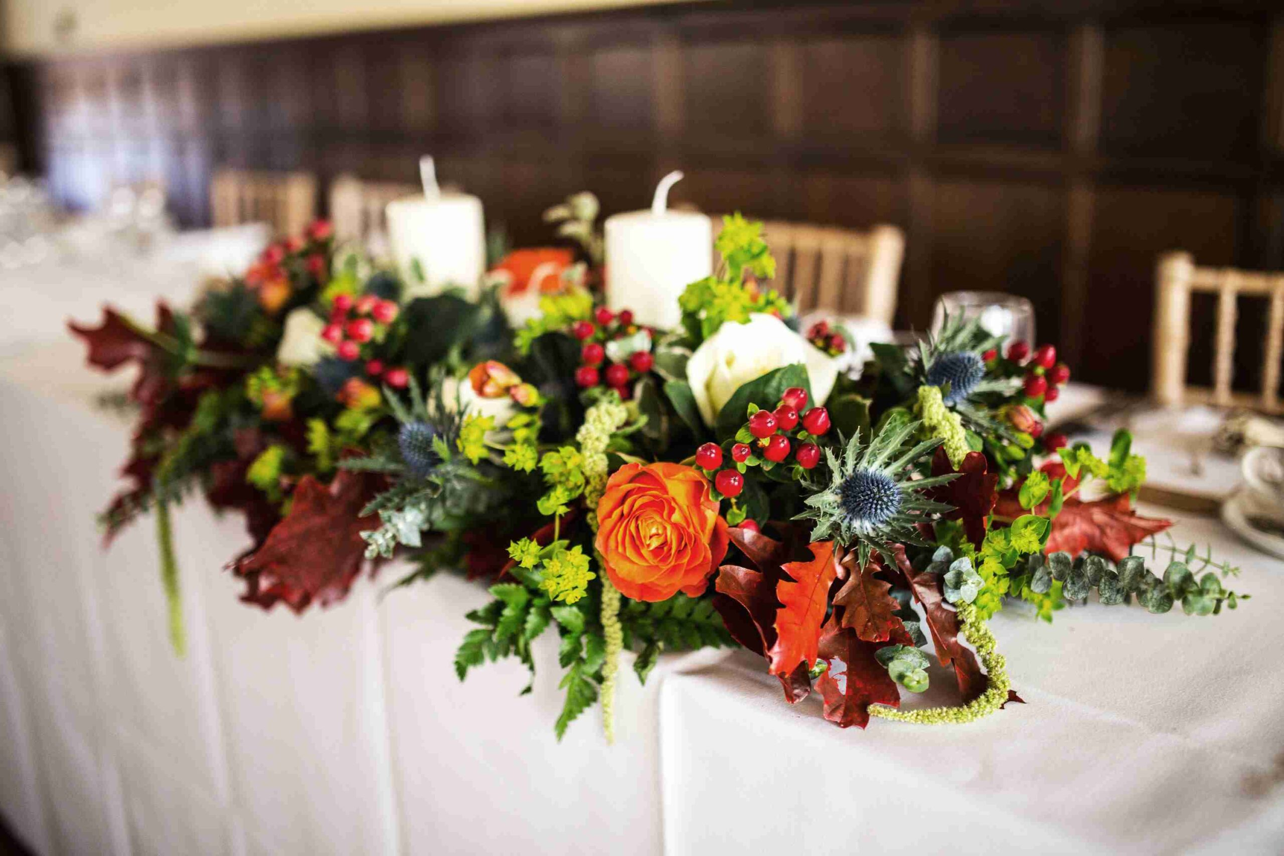Top table floral arrangement