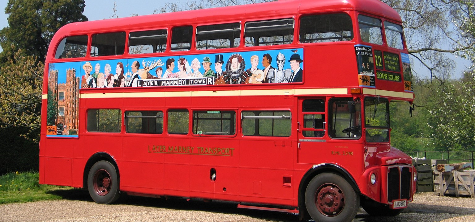 Traditional red London Routemaster Bus