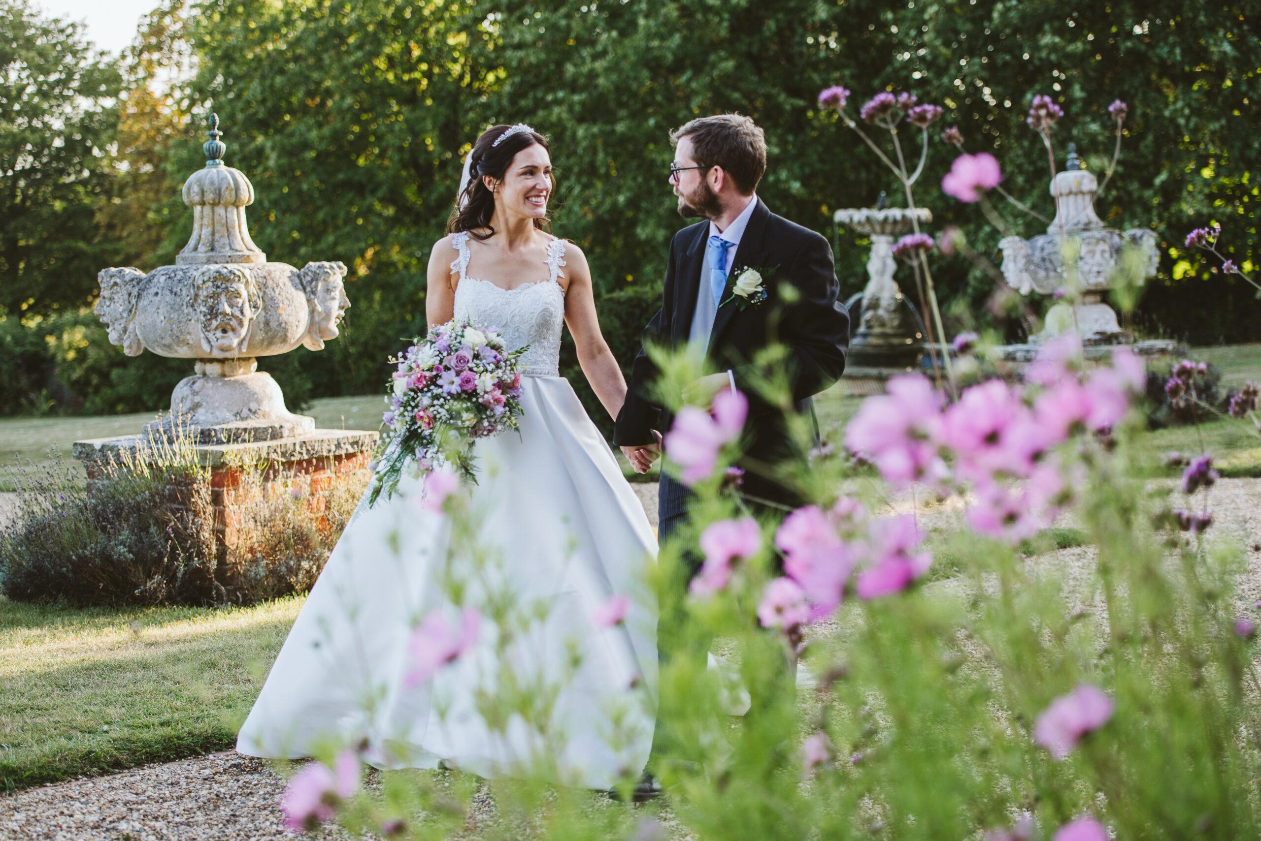 September garden wedding photo