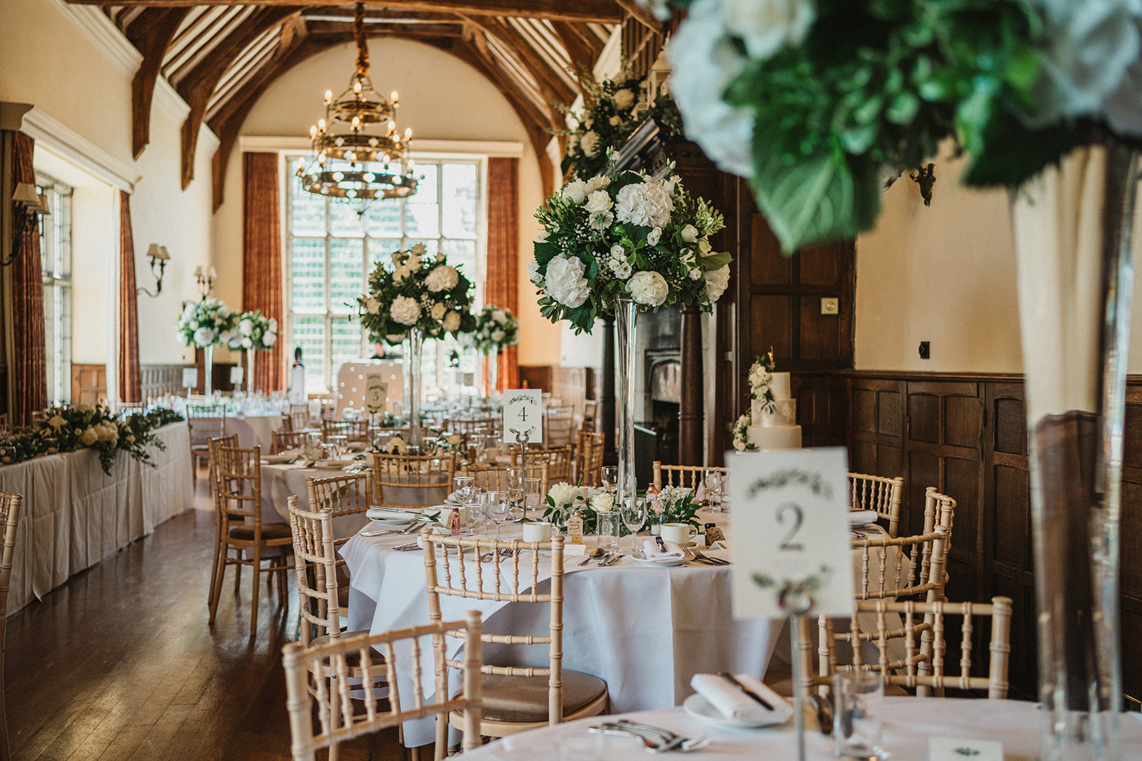 The wedding reception room